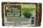 Kuza African Black Soap With Shea Butter And Lemongrass 114g